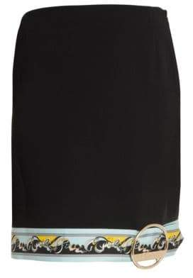 Emilio Pucci Buckle Hem Border Print Mini Skirt