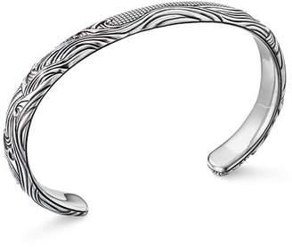 David Yurman Sterling Silver Waves Cuff Bracelet