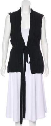 Lanvin Pleated V-Neck Vest w/ Tags