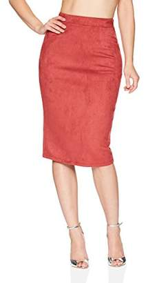 Velvet Rope Women's Sueded Tight Knit Midi Skirt