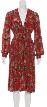 Jean Paul Gaultier Silk Midi Dress Orange Silk Midi Dress