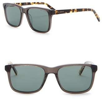 Ted Baker 54mm Square Polarized Acetate Frame Sunglasses