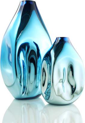 "Tsunami Glassworks Hand-Blown Fluid Glass Vase ""Soft Box"""