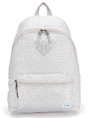 TOMS Local Metallic Backpack $55 thestylecure.com