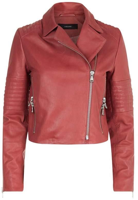 Aiah Leather Biker Jacket