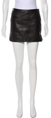 Alexander Wang Leather Mini Skirt