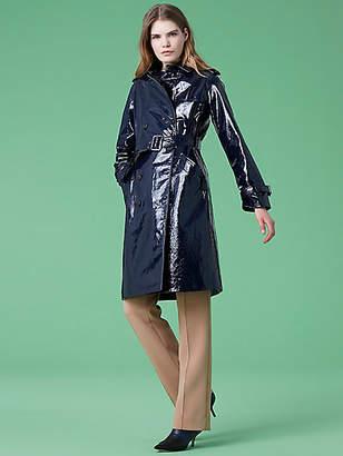 Diane von Furstenberg Leather Trench