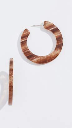 Madewell Striped Resin Hoop Earrings