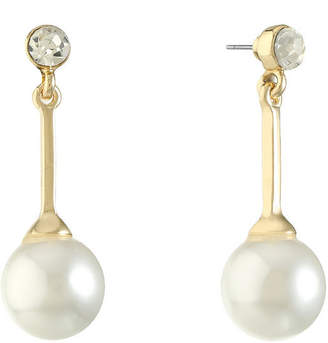 MONET JEWELRY Monet Jewelry White Simulated Pearl Drop Earrings