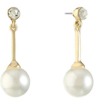 MONET JEWELRY Monet Jewelry White Simulated Pearl Drop Earrings