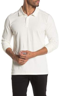 THREAD & CLOTH Long Sleeve Solid Knit Polo