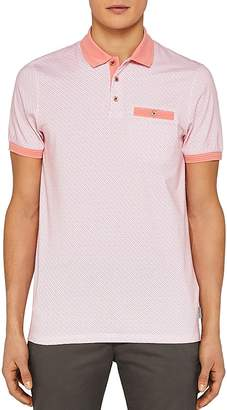 Ted Baker Sloughi Geo Print Regular Fit Polo