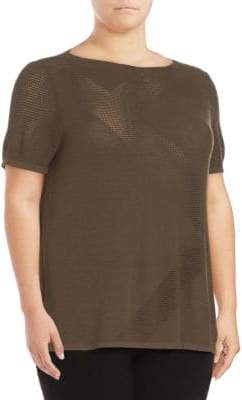 Lafayette 148 New York Short Sleeve Sweater