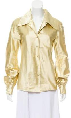 Marc Jacobs Silk Button-Up Top