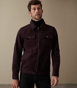 Reiss Watson Wool Blend Blouson Jacket