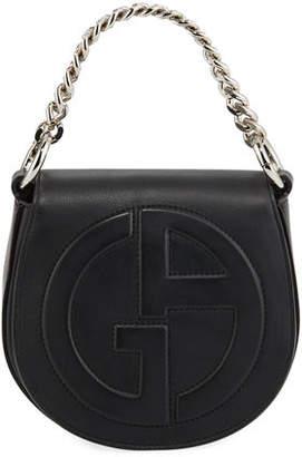 Giorgio Armani Small Leather Flap-Top Crossbody Bag