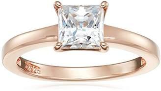 Swarovski Sterling Silver Zirconia Princess Solitaire Ring