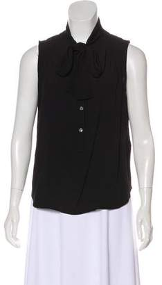 Burberry Sleeveless Tie-Accented Top