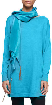 Eileen Fisher Whisper-Silk Chain Scarf $74 thestylecure.com
