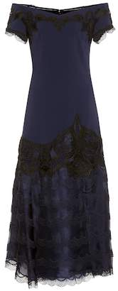 Jonathan Simkhai Lace-trimmed crêpe dress