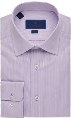 David Donahue Men's Slim-Fit Striped Dress Shirt