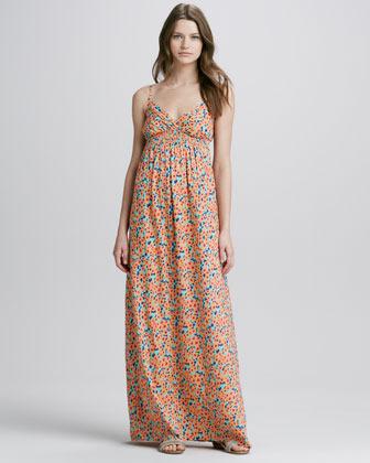 Splendid Watercolor-Print Maxi Dress