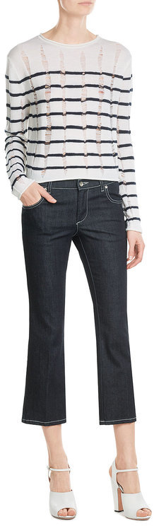 T by Alexander Wang Striped Wool Pullover