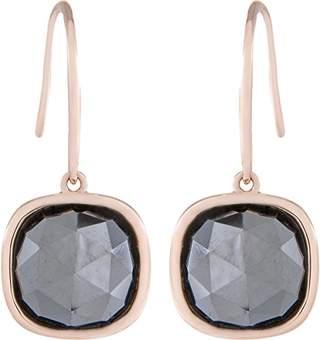 Bronzallure Women's Earring Partially Gold-Plated Quartz Bronze Alloy WSBZ00497E Black