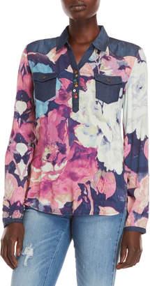 Desigual Floral Pocket Shirt