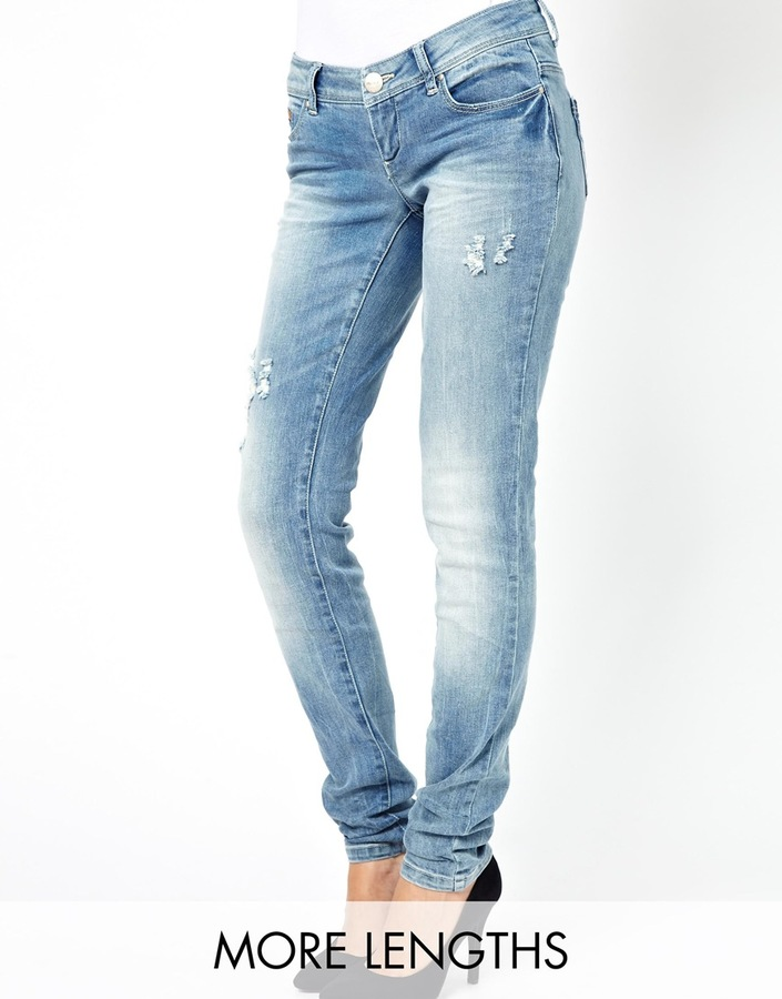 Only Super Low Rise Skinny Jean