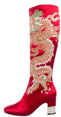 Gucci 2017 Candy Dragon Knee-High Boots w/ Tags