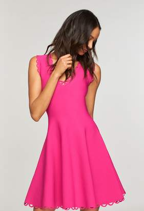 Milly EYELET SCALLOP FLARE DRESS
