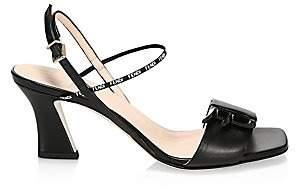 Fendi Women's Logo Leather Sandals