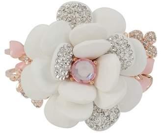 Betsey Johnson Flower Hinged Bangle Bracelet