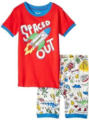 Hatley Dinos Aliens Doodles Applique Short Pajama Set Boy's Pajama Sets