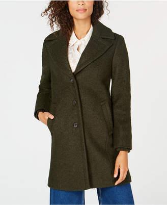 Vince Camuto Shawl-Collar Textured Wool Coat