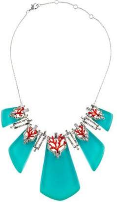Alexis Bittar Coral Deco Bedarra Articulated Bib Necklace