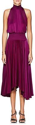 A.L.C. Women's Renzo Satin Halter Dress - Purple