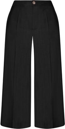 Gisy Iris Black Silk Pants