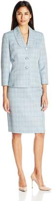 Le Suit Women's Crossdye 3 Button Skirt