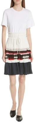 3.1 Phillip Lim Pleated Skirt T-Shirt Dress