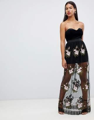 Rare London Lace Rose Maxi Dress