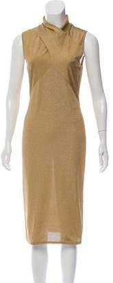 Ralph Lauren Metallic Knit Midi Dress