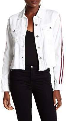 Rachel Roy Stripe Sleeve Denim Jacket