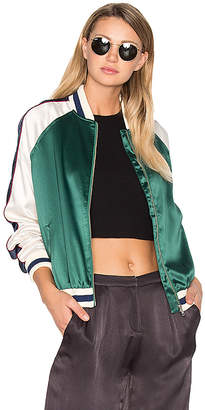 Lovers + Friends x REVOLVE The Exclusive Bomber in Green $188 thestylecure.com