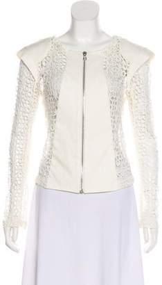 Alexis Structured Crochet Zip Jacket