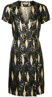 DAY Birger et Mikkelsen Matin woven metallic detailing wrap dress