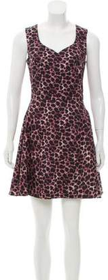 Zac Posen Z Spoke by Sleeveless Printed Mini Dress