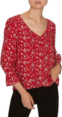 Sanctuary Farrah Floral Button-Up Blouse