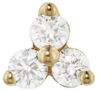 Maria Tash Large Three Diamond Trinity Thread Through Earring - Yellow Gold